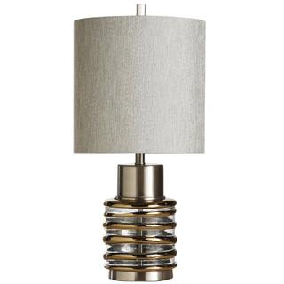 Eton  27in Transitional Metal & Glass Table Lamp  150 Watts  3-Way