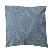 "(LS) Cadence Tonal Diamond Square Pillow (22"" x 22"") - Graphite"