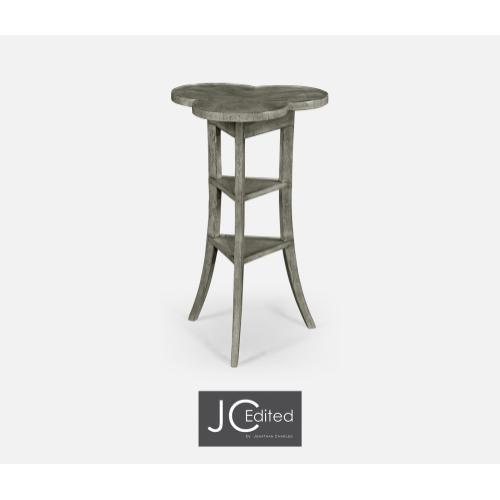 Trefoil Side Table in Antique Dark Grey