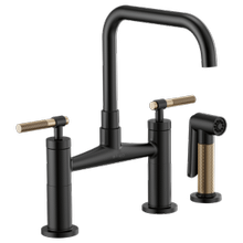 Bridge Faucet With Square Spout and Knurled Handle