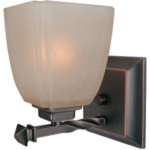 1-lite Wall Lamp, Cop Brz/woven Pattern Glass Shade, A 60w