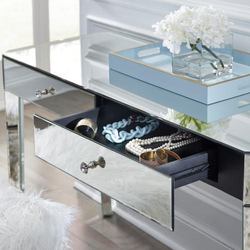 Mirrored Two Drawer Desk
