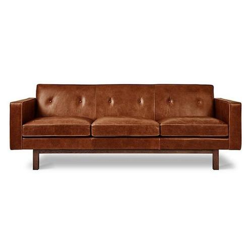 Embassy Sofa Saddle Brown Leather