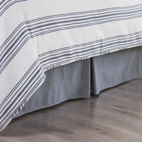 Chambray Denim Bed Skirt - Queen