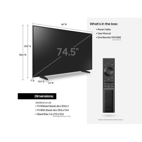 """75"""" Q60A QLED 4K Smart TV (2021)"""