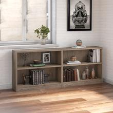 Universal Bookcases 2 Shelf Bookcase Set of 2 - Rustic Gray