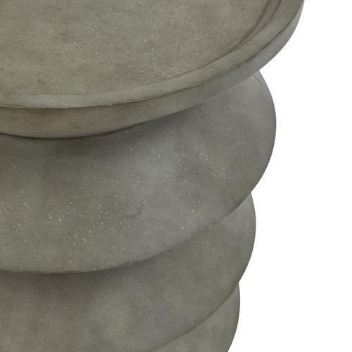 Textured Resin Modern Lamp Table