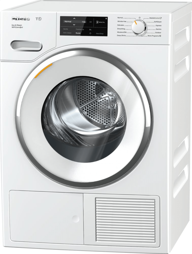 TWI180 WP Eco&Steam WiFiConn@ct - T1 Heat-pump tumble dryer with WiFiConn@ct, FragranceDos, and SteamFinish. Photo #1