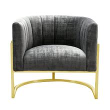 Magnolia Grey Chair with Gold