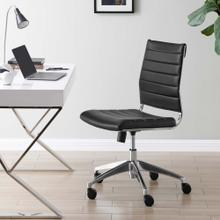 Jive Armless Mid Back Office Chair in Black