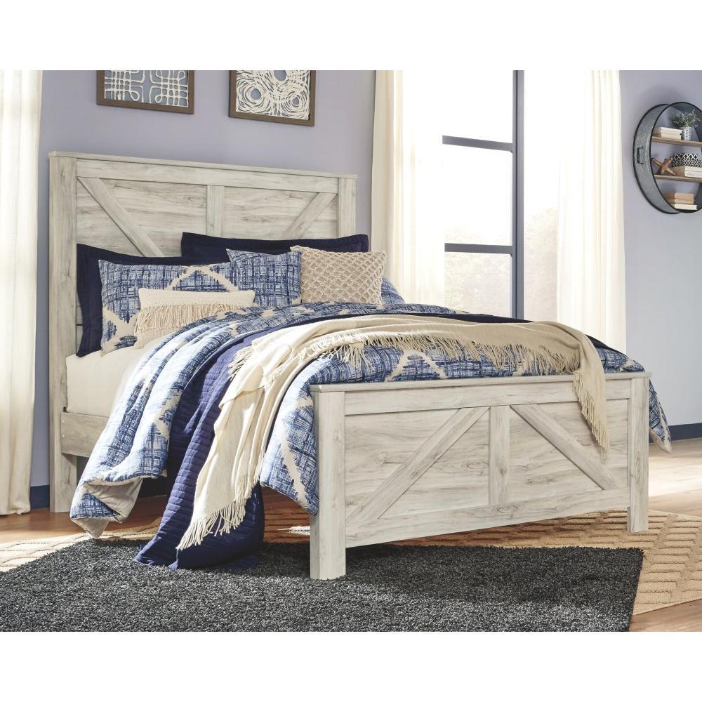 Queen Crossbuck Panel Bed With 2 Nightstands