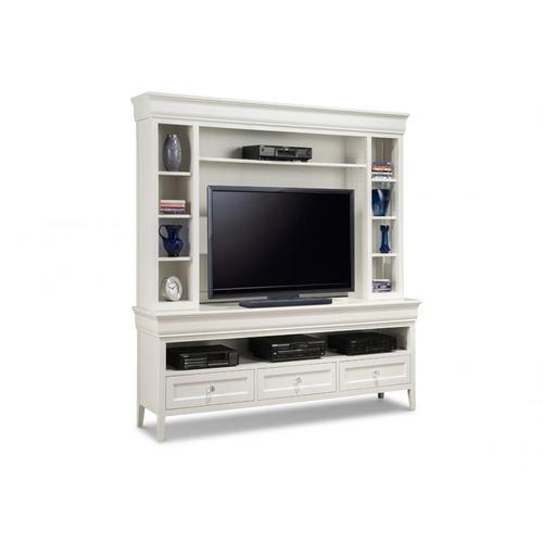 """Handstone - Monticello 74"""" HDTV Cabinet with Hutch"""