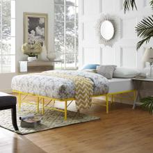 View Product - Horizon Full Stainless Steel Bed Frame in Yellow