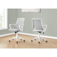 See Details - OFFICE CHAIR - WHITE / GREY MESH / MULTI POSITION
