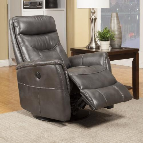 Gary Flint Power Swivel Glider Recliner with Articulating Headrest and built-in battery pack