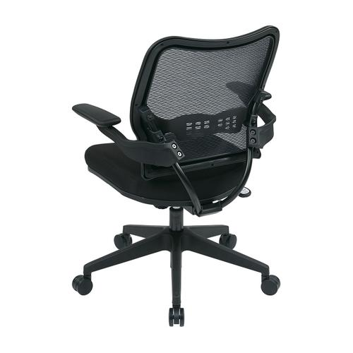 Office Star - Deluxe Airgrid® Back Chair With Custom Fabric Seat and Cantilever Arms