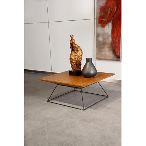Modrest Gabriel Modern Square Walnut Coffee Table