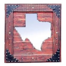 See Details - Large Red Texas Mirror Da