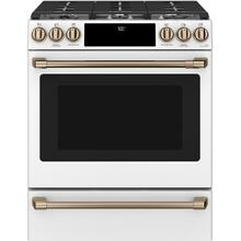 """See Details - Café 30"""" Slide-In Front Control Gas Oven with Convection Range"""