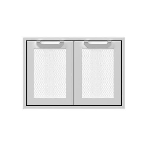 """30"""" Hestan Outdoor Double Storage Doors - AGSD Series - Froth"""