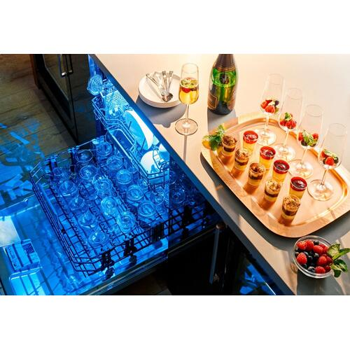 24-Inch Professional Stainless Steel Glass Care Center Dishwasher