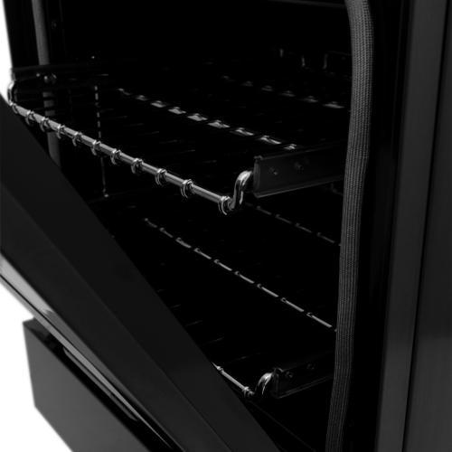 "Zline Kitchen and Bath - ZLINE 24"" Professional Dual Fuel Range in Black Stainless Steel (RAB-24) [Style: Black Stainless Steel]"