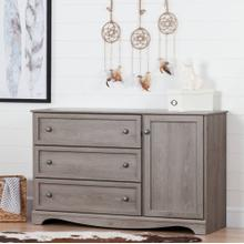 Storage Cabinet with 3 Drawers and 1 Door Dresser - Sand Oak