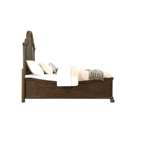 Emerald Home B553-12-k Knoll Hill King Curved Bed Walnut Brown B553-12-k