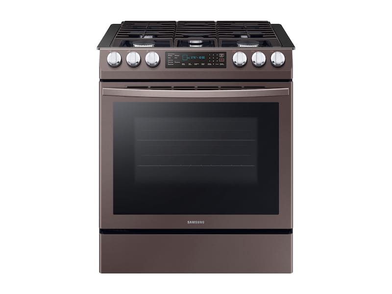 Samsung5.8 Cu. Ft. Slide-In Gas Range With Convection In Tuscan Stainless Steel