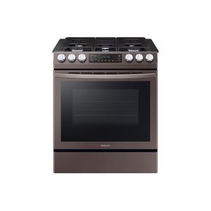 5.8 cu. ft. Slide-in Gas Range with Convection in Tuscan Stainless Steel -