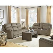 Power Reclining Console Loveseat with Power Headrest and Next Level Reclining Upgrade
