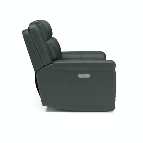 Flexsteel - Yuma Power Reclining Loveseat with Power Headrests