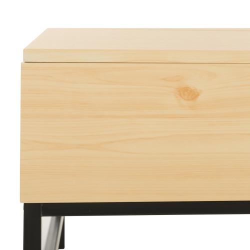 Gina Contemporary Lift- Top Coffee Table - Light Oak