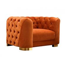 Divani Casa Duarte - Modern Orange Velvet Chair