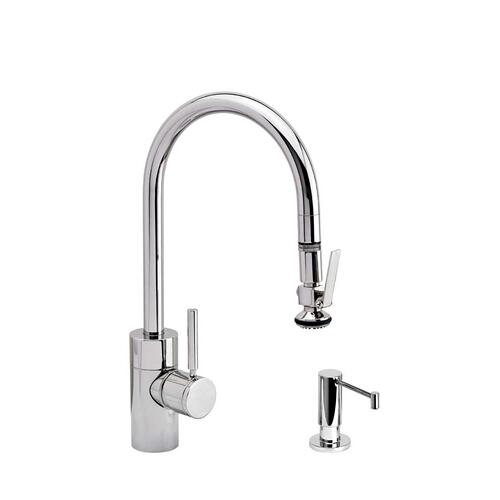Contemporary PLP Pulldown Faucet 2pc. Suite - 5800-2 - Waterstone Luxury Kitchen Faucets