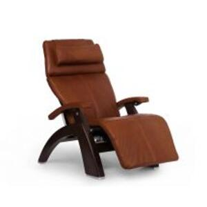 Perfect Chair ® PC-LiVE™ - Cognac Premium Leather - Dark Walnut