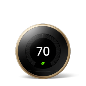 Nest Learning Thermostat 3rd Gen Brass 1 Pack