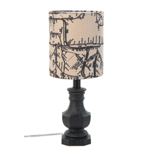 Black Accent Lamp with Map Shade. 40W Max.