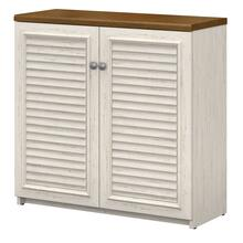 Fairview Small Storage Cabinet with Doors and Shelves - Antique White