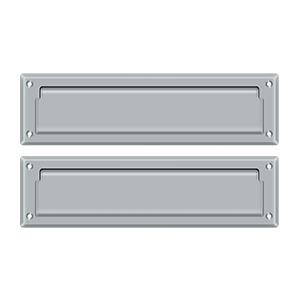 """Deltana - Mail Slot 13-1/8"""" with Interior Flap - Brushed Chrome"""