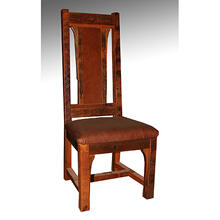 Buffalo Bill - Side Chair With Leather Seat