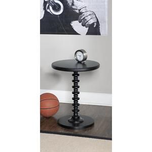 Round Spindle Table, Black