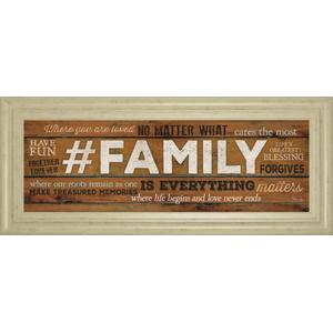 """""""Family Is Everything"""" By Marla Rae Motivational Framed Print Wall Art"""