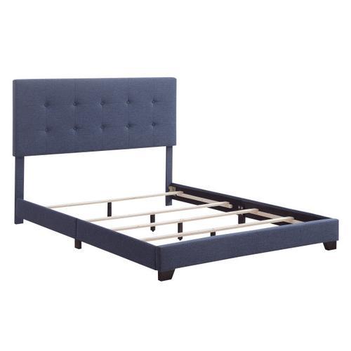 Full One Box Bed - Denim