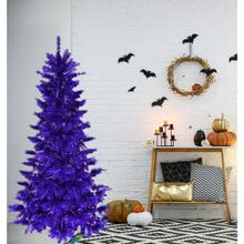 Fraser Hill Farm 5-Ft. Spooky Purple Tinsel Tree, No Lights, HH050TINTREE-0PUR