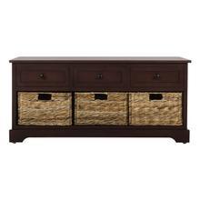 See Details - Damien 3 Drawer Storage Bench - Red