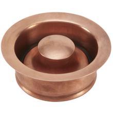Polished Copper Disposal Flange & Stopper