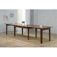 "DLU-BR134-AM  134"" Rectangular Extendable Dining Table  Amish Brown"