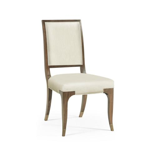 Hamilton Golden Amber Dining Side Chair, Upholstered in Castaway