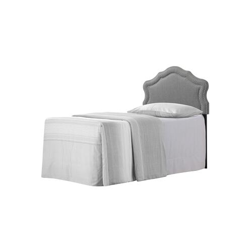 Emerald Home Twin 3/3 Upholstered Headboard Gray #6086-2 B175-08hb-03